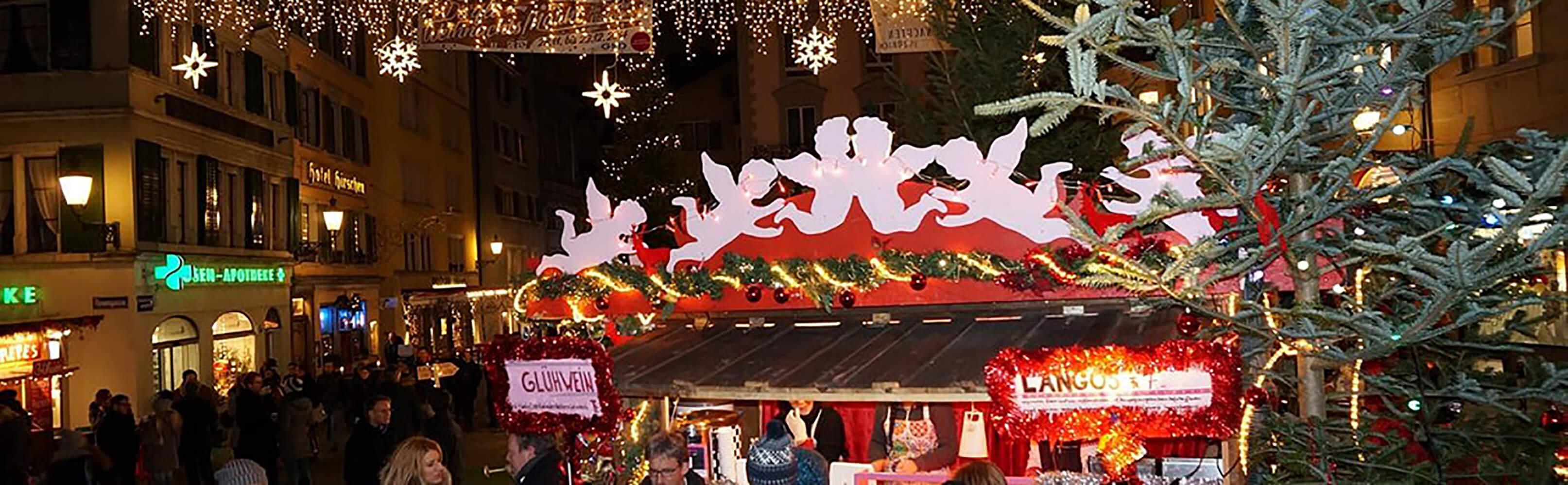 Dörfli-Weihnachtsmarkt Zürcher Niederdorf 1