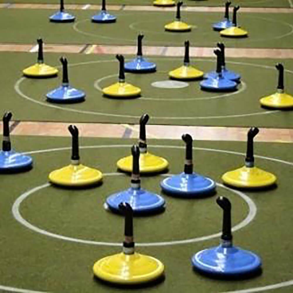 Curling/Eisstockschiessen ohne Eis + Shuffleboard. Mobile Spielbahnen