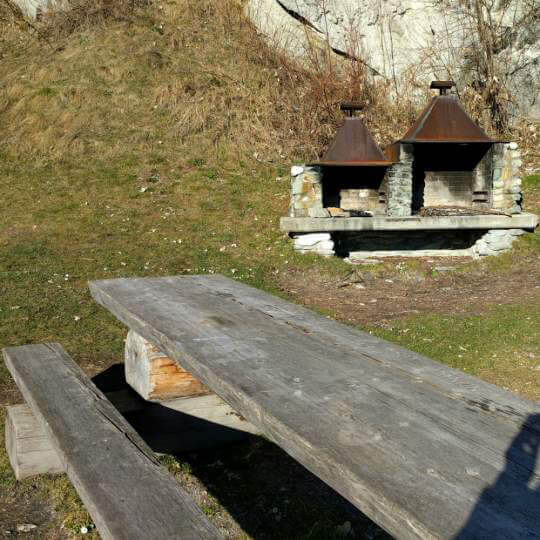 Feuerstelle auf der Mutta - Falera 10