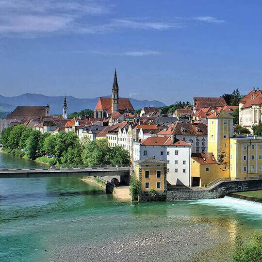 Die Stadt Steyr in Oberösterreich