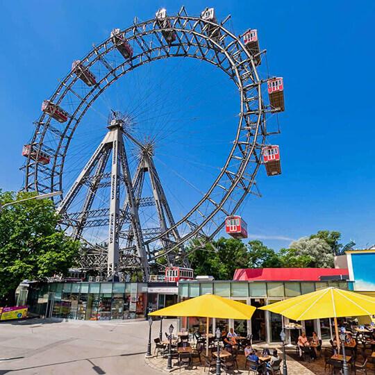 Wiener Riesenrad und Prater