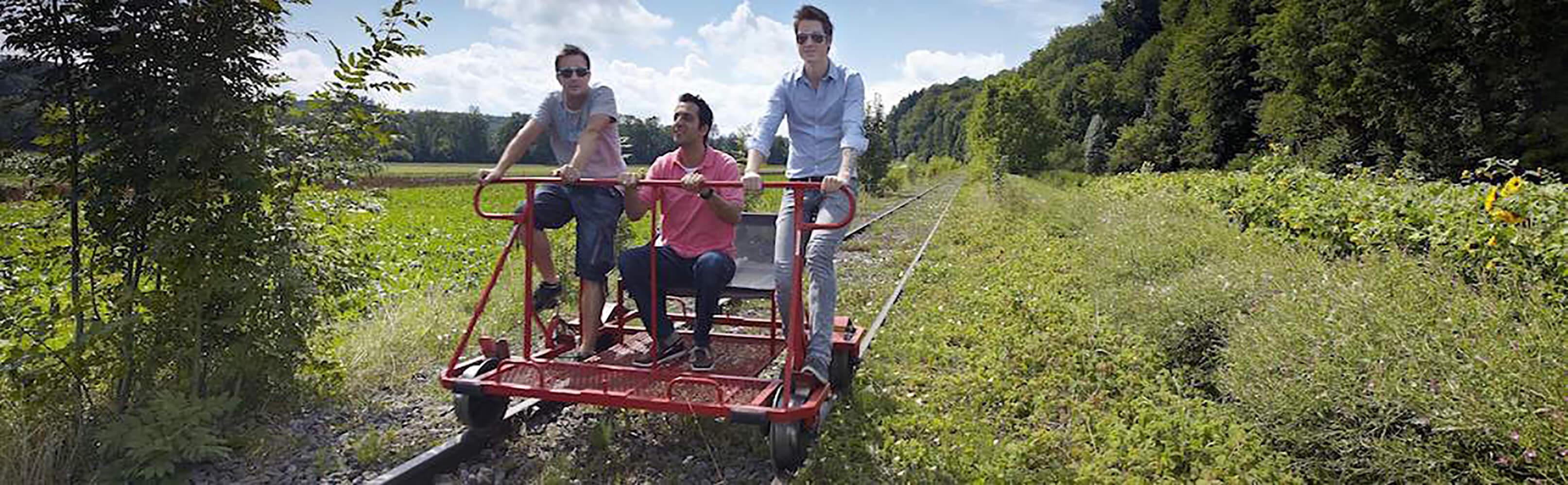 Schienenvelo fahren – das Erlebnis im Sensetal! 1