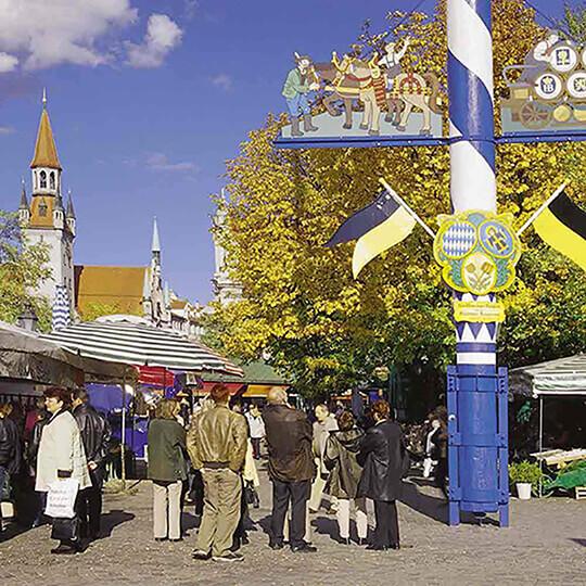 Vorschaubild zu Der Viktualienmarkt in München