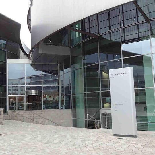 Audi Forum mit dem Audi museum mobile in Ingolstadt