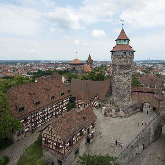 Die Kaiserburg in Nürnberg