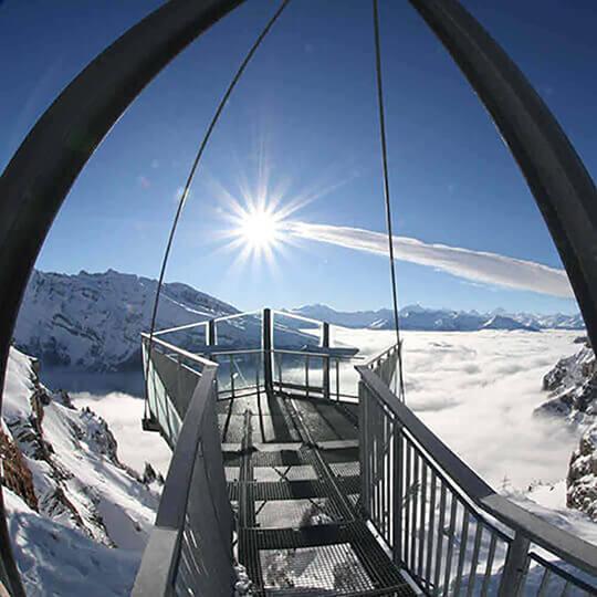 Vorschaubild zu Aussichtsplattform Gemmi - Gemmipass Leukerbad