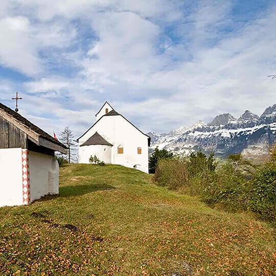 Vorschaubild zu Kulturweg Sankt Georgenberg und Berschnerfall bei Berschis