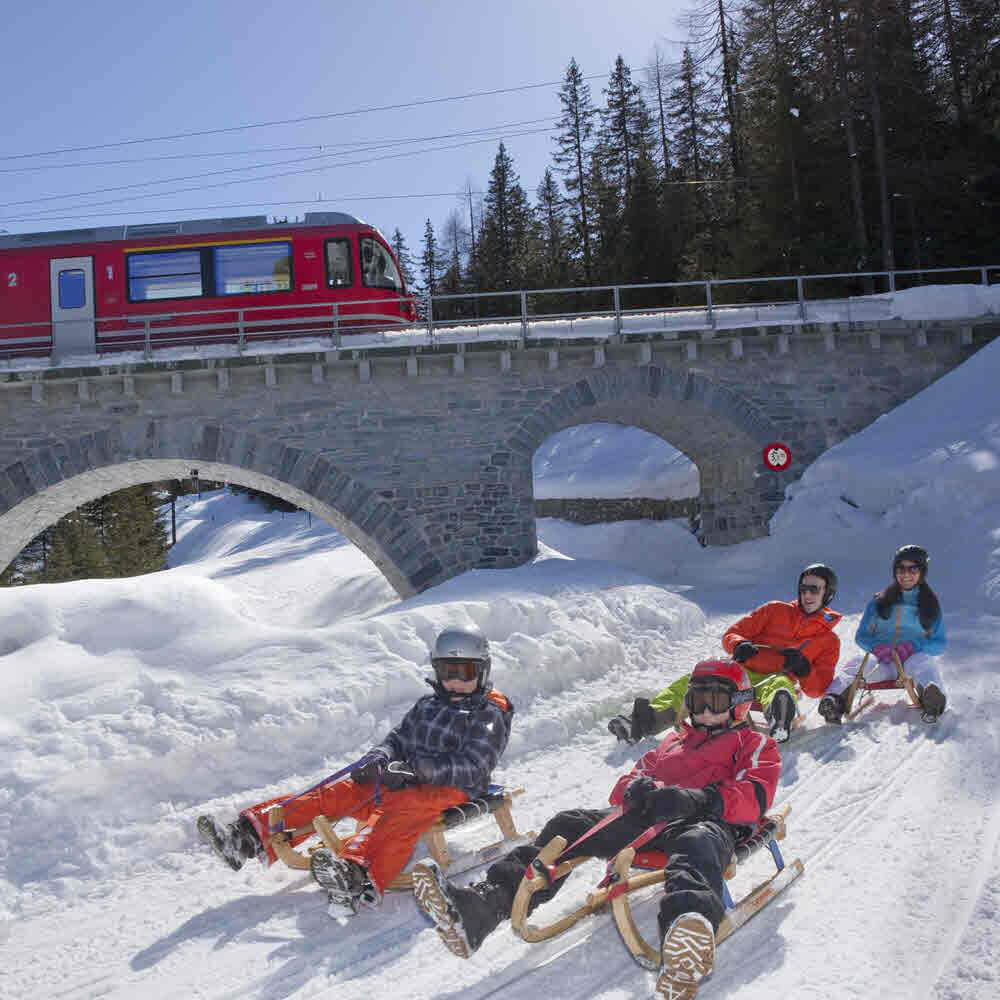 Schlittelbahn Preda - Bergün 10