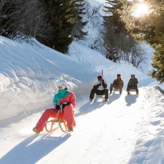 Schlittelweg Cuolm Sura-Ilanz Obersaxen 10