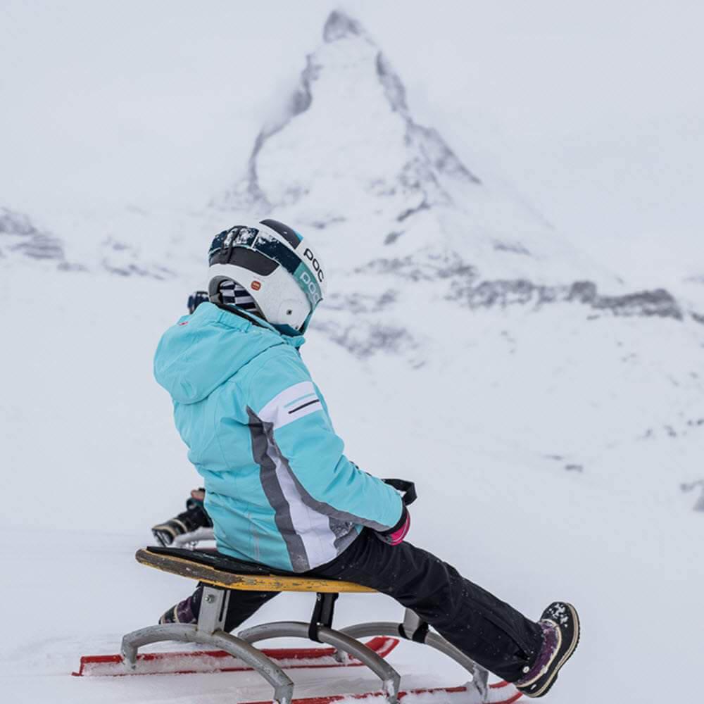 Schlittelpiste Gornergrat bei Zermatt