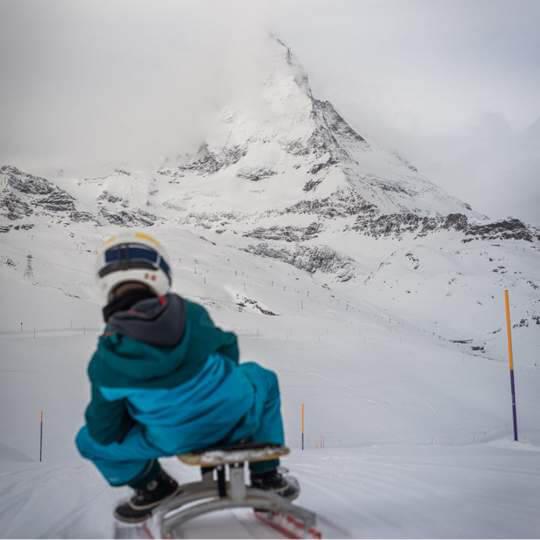 Schlittelpiste Gornergrat bei Zermatt 10