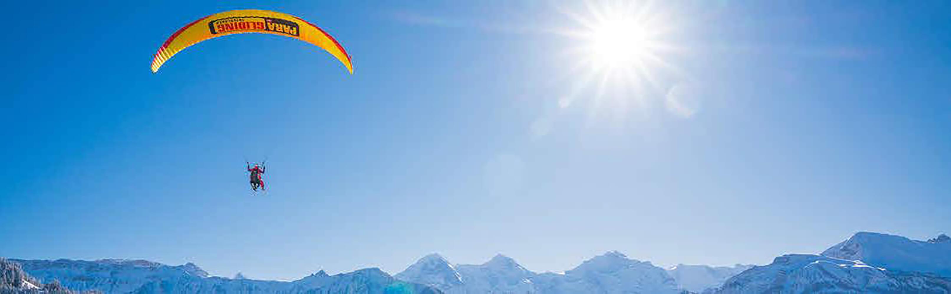 Winterlicher Tandemflug mit dem Gleitschirm – Interlaken 1