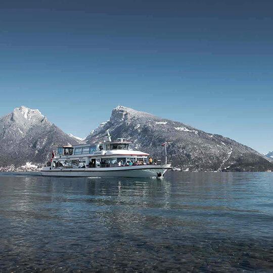 Vorschaubild zu Schifffahrt auf dem Thunersee im Winter