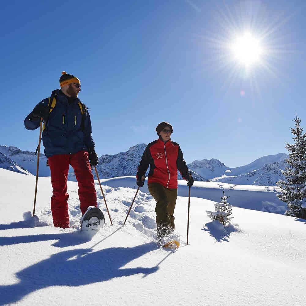Arosa Schneeschuhtouren