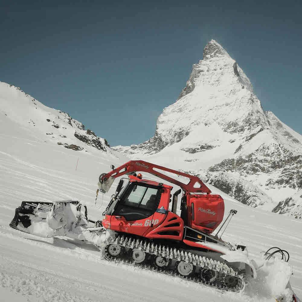 Pistenbully Fahrt Zermatt