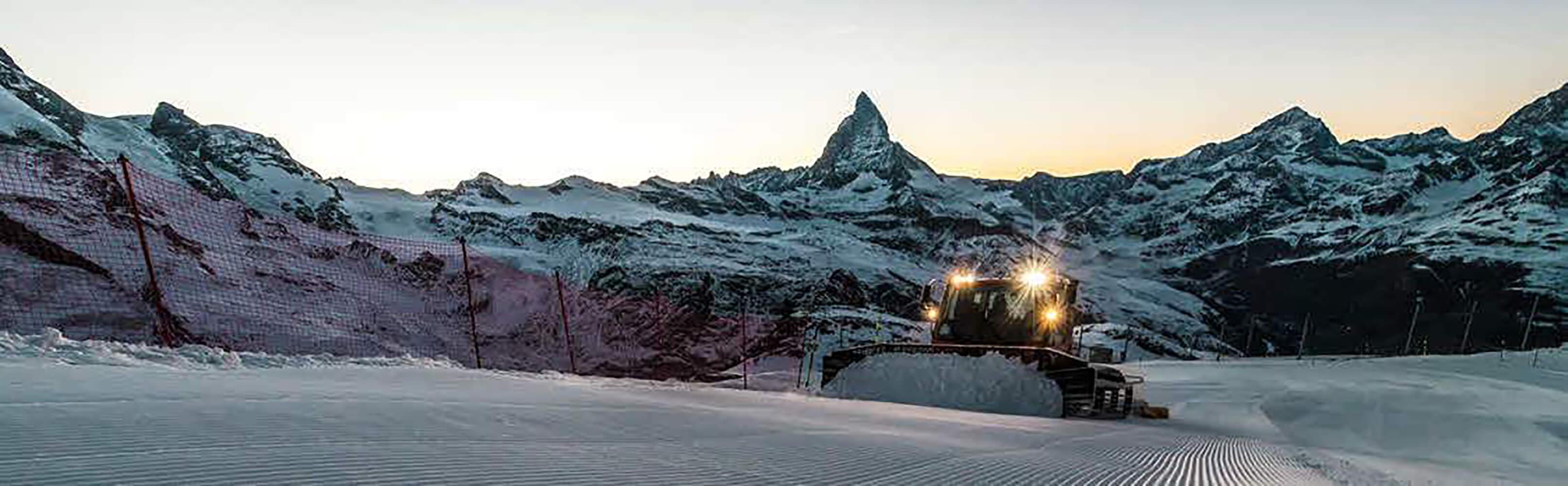 Pistenbully Fahrt Zermatt 1