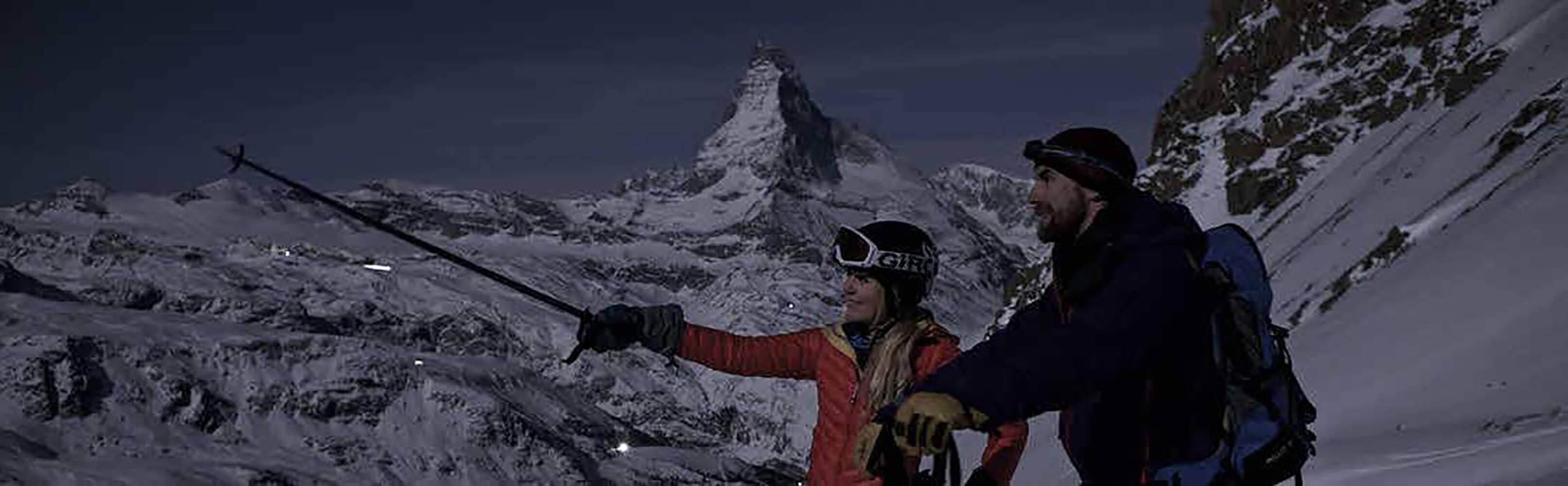 Mondscheinabfahrt Rothorn Zermatt 1