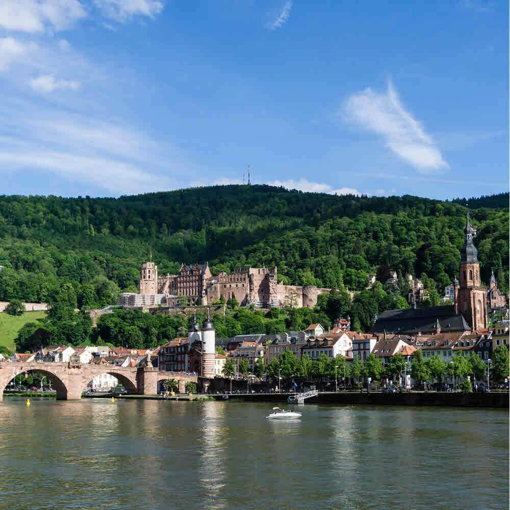 Heidelberg und Schloss Heidelberg