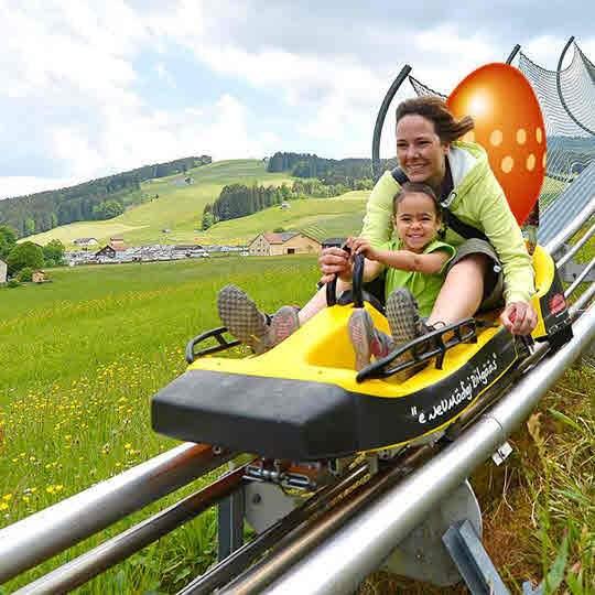 Vorschaubild zu Luftseilbahn und Rodelbahn Jakobsbad-Kronberg