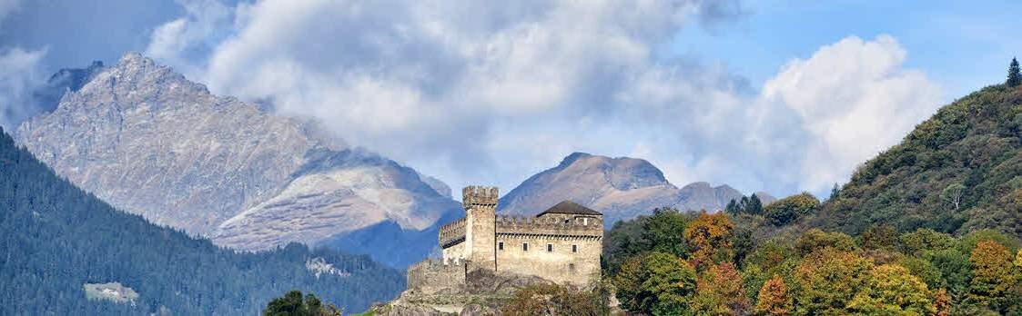 Stadt Bellinzona mit seinen Burgen 1