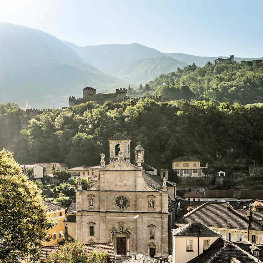 Stadt Bellinzona mit seinen Burgen