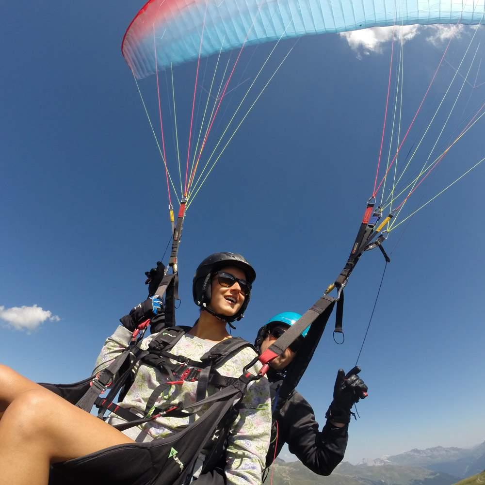Davos Joyride Paragliding Gleitschirm Tandemflüge