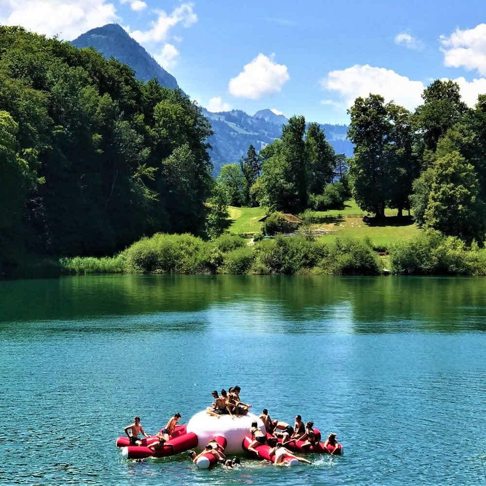 Naturstrandbad Burgseeli – Goldswil bei Interlaken