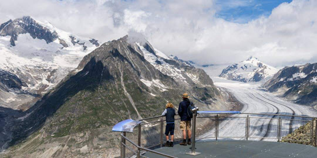 Rundweg Eggishorn - 360°Panorama am Grossen Aletschgletscher