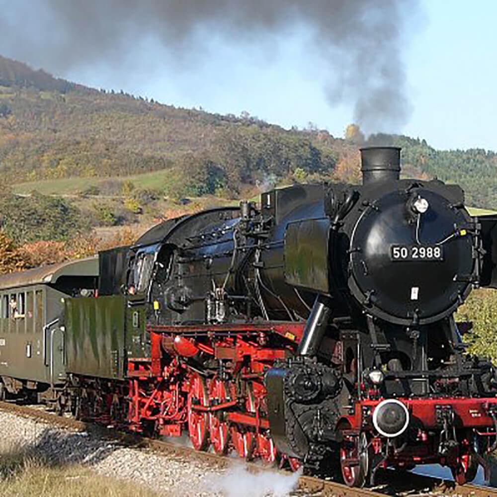 Historische Dampf- und Dieselzugfahrten mit der Sauschwänzlebahn