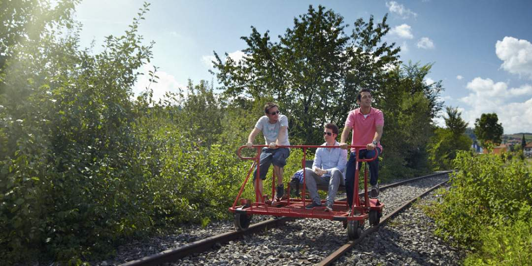 Fun & Games - Schienenvelo fahren im Sensetal