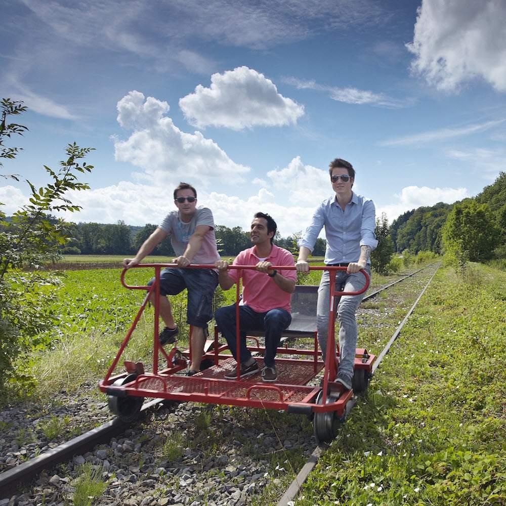 Schienenvelo fahren – das Erlebnis im Sensetal!