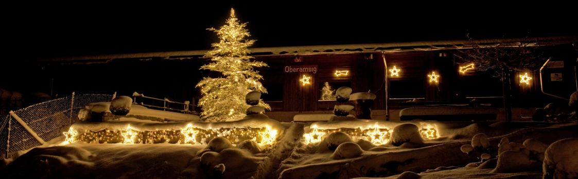 Stimmungsvolle Weihnachts-Anlässe auf dem Event-Bauernhof Oberamsig in Sigigen