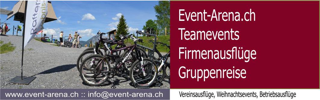 Logo zu EventArena Teamevents Firmenausflüge Gruppenreisen