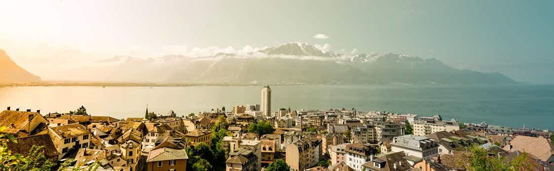 Montreux an der Riviera des Genfersees 1