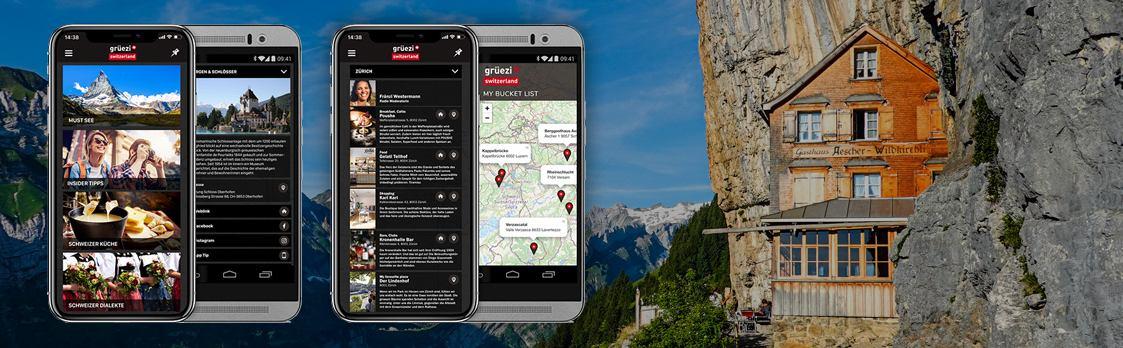 «Grüezi Switzerland» - die App für Touristen und Schweiz-Interessierte!