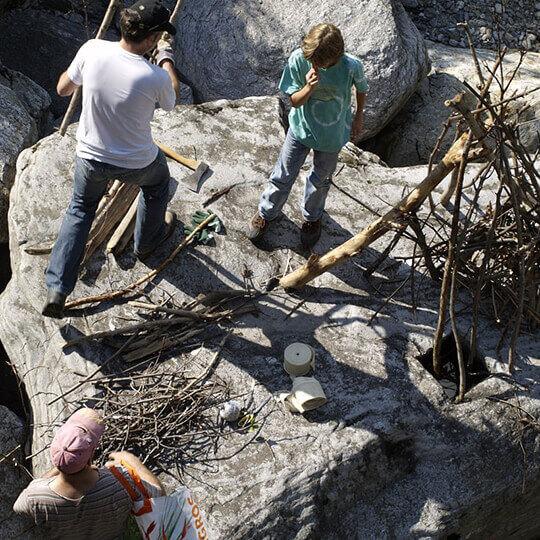 Steinbildhauen in den Tessiner Bergen 10