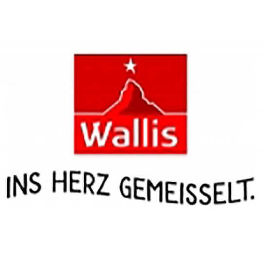 Logo zu Wallis. Ins Herz gemeisselt.