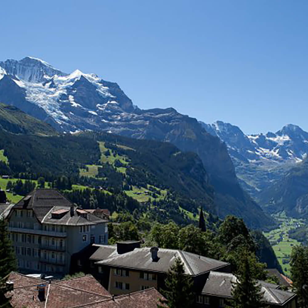 Frische Bergluft in der Jungfrau Region