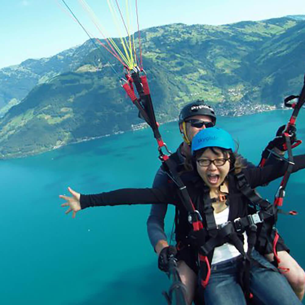 Gleitschirm Passagierflüge in der Zentralschweiz