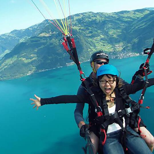 Vorschaubild zu Gleitschirm Passagierflüge in der Zentralschweiz
