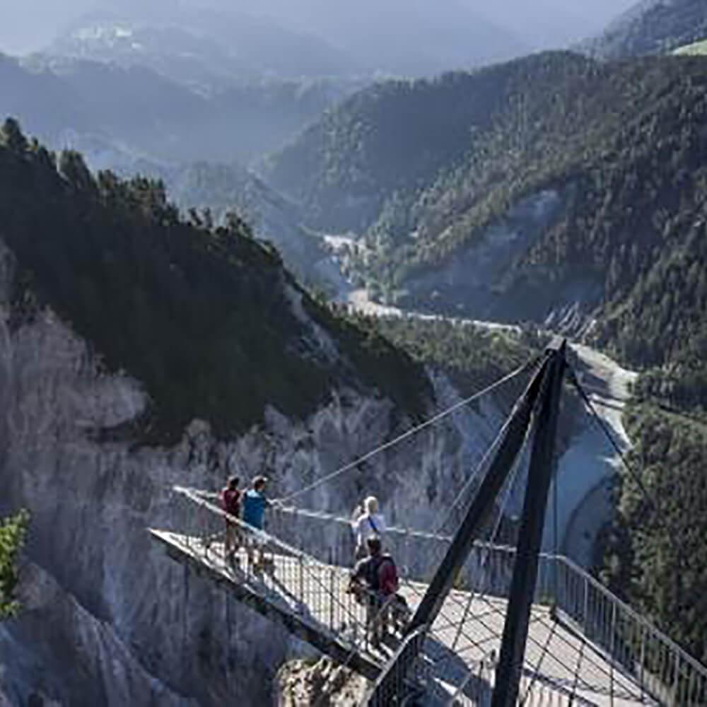 Rheinschlucht bei Flims - die Ruinaulta