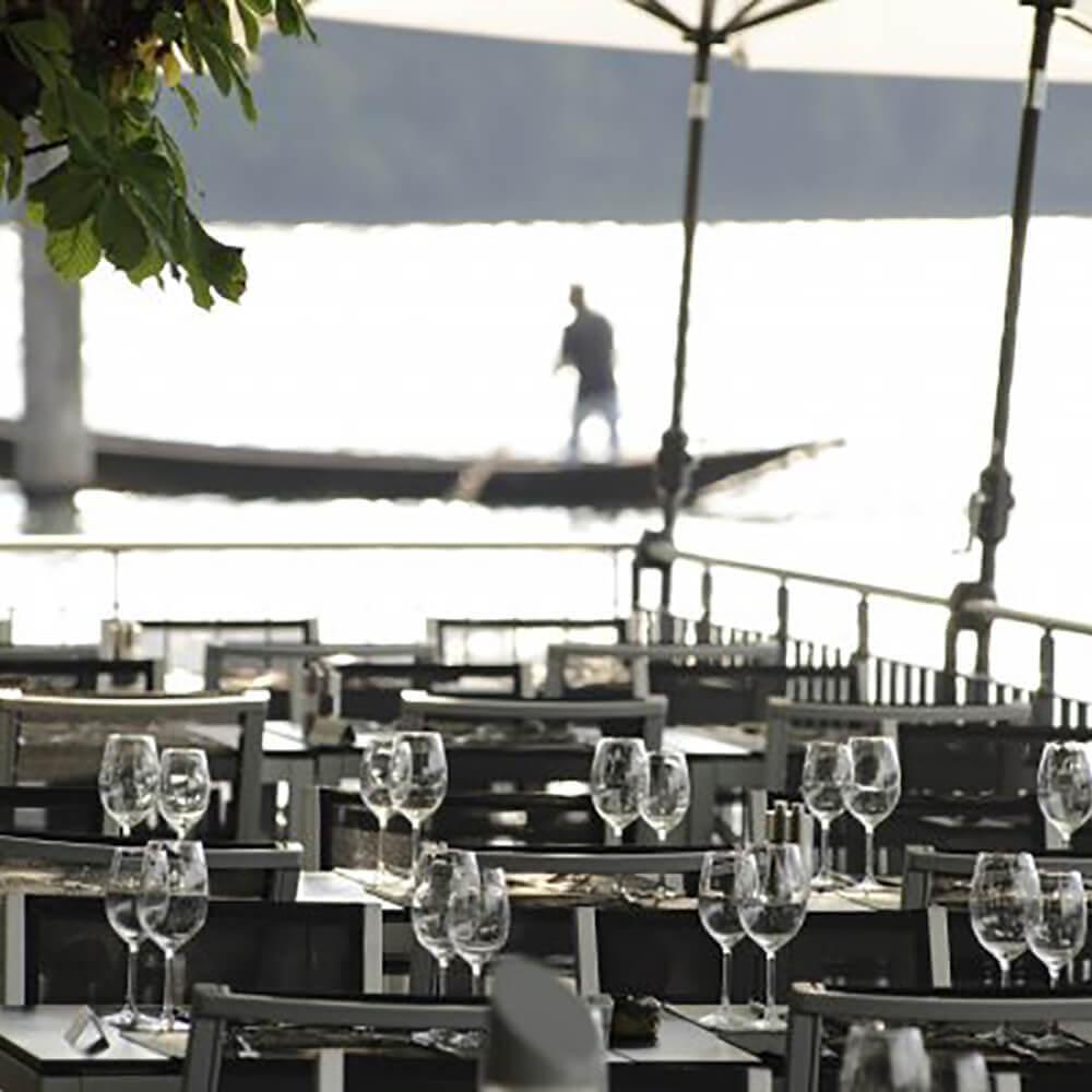 Willkommen im Restaurant Paradies - AMBIENTE AM RHEIN