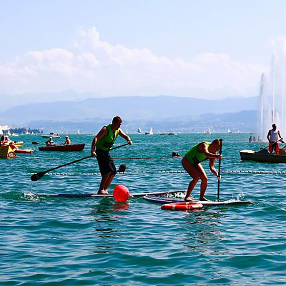 Stand Up Paddling - SUP auf Schweizer Seen: Zürichsee, Crestasee, Walensee u.a.