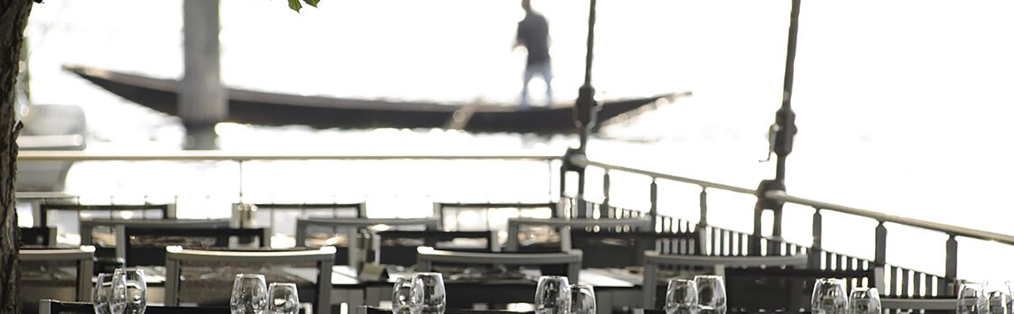 Willkommen im Restaurant Paradies - AMBIENTE AM RHEIN 1