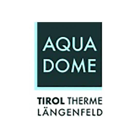Logo zu AQUA DOME - Tirol Therme Längenfeld: Alpenwellness vor imposanter Bergkulisse
