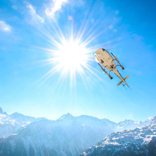 Vorschaubild zu Helikopterflüge in Deutschland, Österreich und der Schweiz